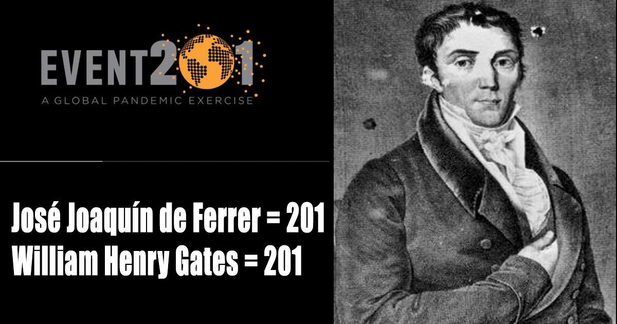 "José Joaquín de Ferrer, the man who coined the term ""corona"" +Event 201, the coronavirus simulation"