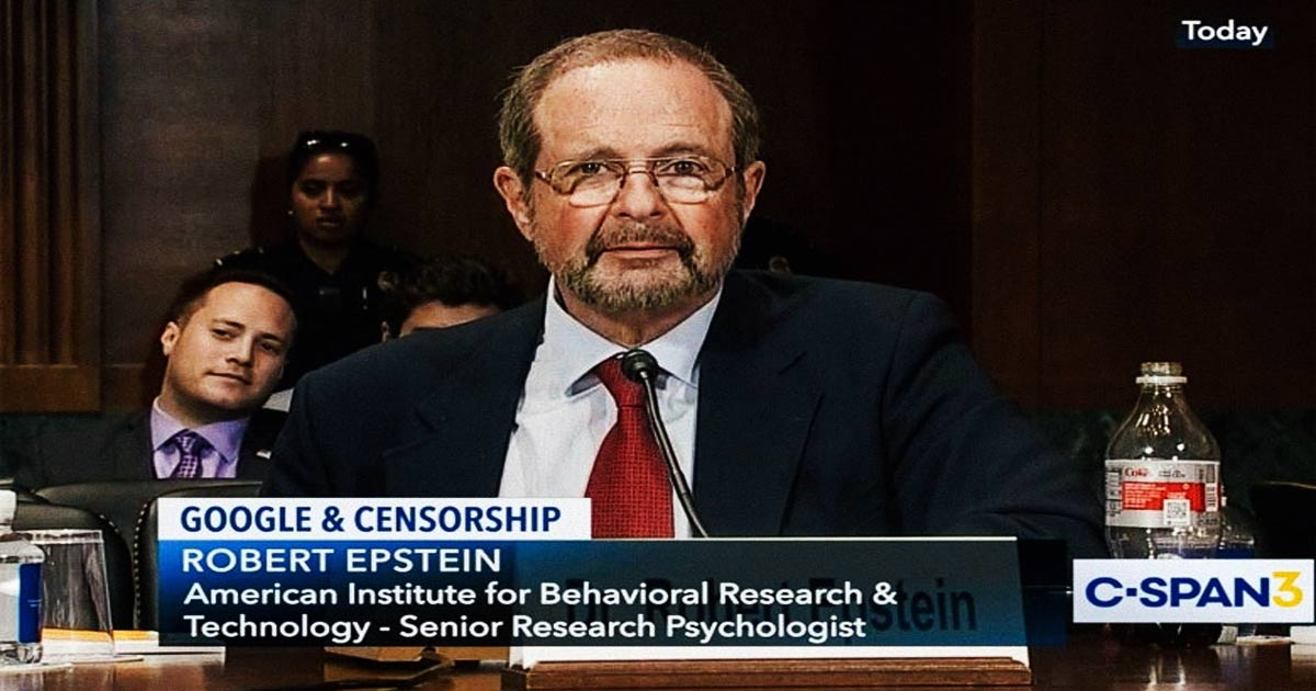Robert Epstein: We're Living in Unseen Dictatorship, 2020 is Big Tech Takeover Turning Point