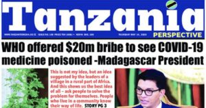 Bombshell: Madagascar President Claims WHO Offered $20M Bribe To Poison COVID-19 Cure