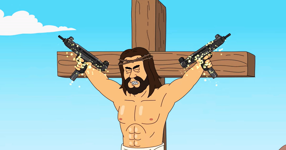 You are currently viewing VIDEO: Netflix Cartoon Mocks NRA with 'Blasphemous' Jesus Who Loves Guns, Sex