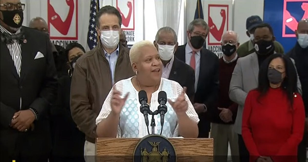 You are currently viewing NY Official Tracey Edwards: Take The Vaccine And Do Not Question What Is In It