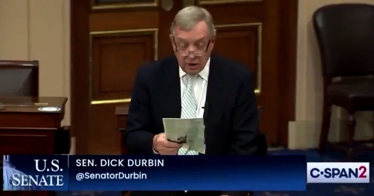 You are currently viewing VIDEO: Senator Dick Durbin Says 'We Have Millions Who've Died Across The World By This Vaccine,' Bungling His Own Pro-Vax Rant