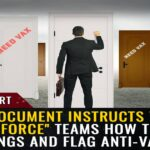 """Government document instructs vaccine """"strike force"""" teams how to clear buildings, violate trespass laws and flag anti-vaxxers for forced quarantines"""