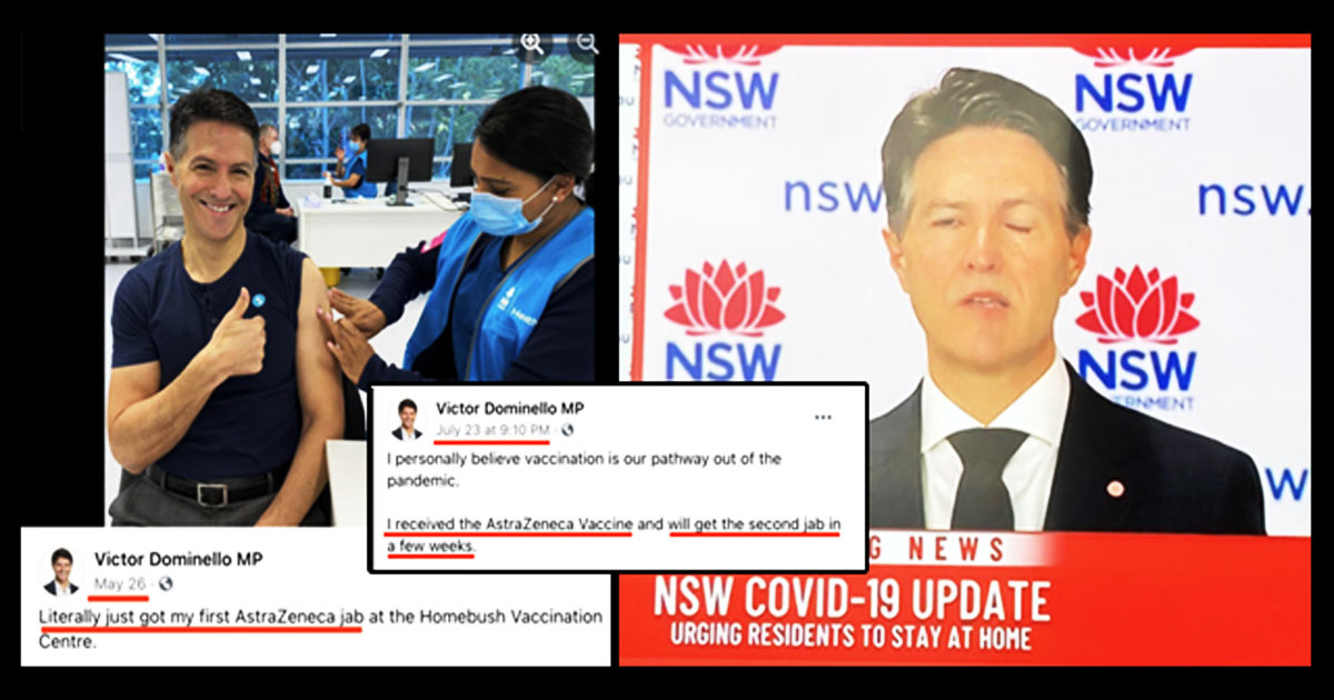 You are currently viewing Jabbed Australian Official Develops Bell's Palsy in Middle of CV Press Conference