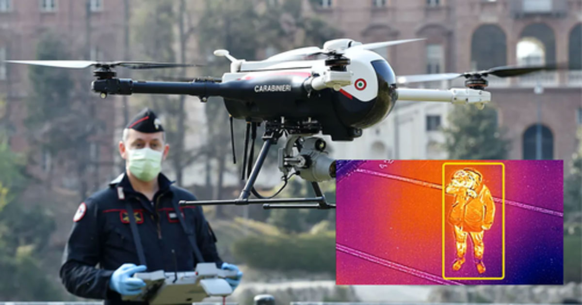 """You are currently viewing Italy Deploys """"Medical Drones"""" Over Beaches To Search For Feverish People"""