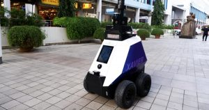 """Read more about the article Robocop Is Here: Singapore Deploys Robots To Detect """"Undesirable Behavior"""" Including Groups Of """"More Than Five People"""""""