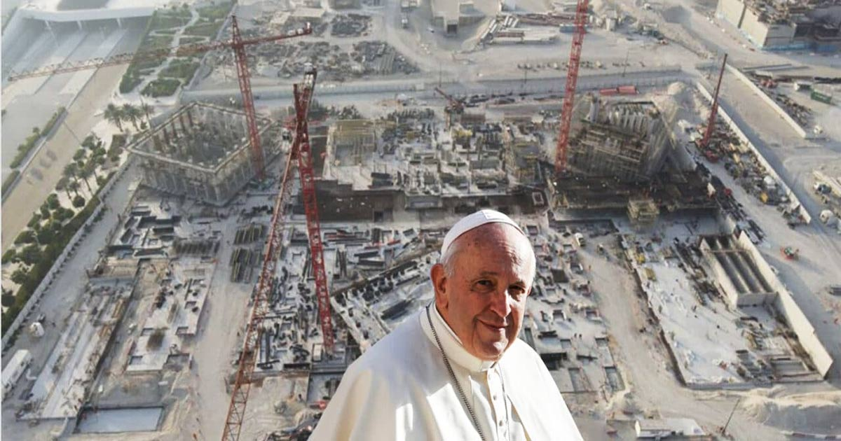 """You are currently viewing Massive facility overseen by Pope Francis to pave the way for a """"One World Religion"""" in 2022"""