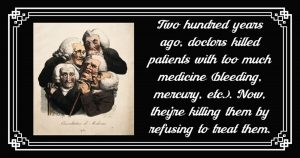 Read more about the article Why is the medical profession letting us die?