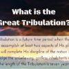 what is great tribulation